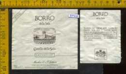 Etichetta Vino Liquore Borro Della Sala 1987 Antinori - S. Casciano FI - Etichette