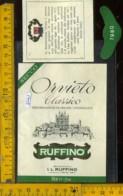 Etichetta Vino Liquore Orvieto C. 1980 Ruffino - Pontassieve FI - Etichette
