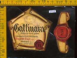 Etichetta Vino Liquore Gattinara 1974 Cantine Umberto Fiore - VC - Etichette
