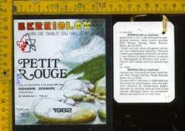 Etichetta Vino Liquore Petit Rouge 1982 Berriolon - ST. Nicolas V. D'Aosta - Etichette