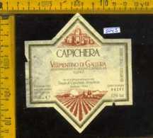 Etichetta Vino Liquore Vermentino Di Gallura 1991 Capichera-Arzachena (difetto) - Etichette
