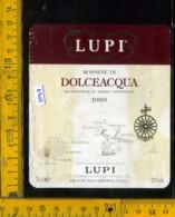 Etichetta Vino Liquore Rossese Di Dolceacqua 1989 Lupi - Pieve Di Teco IM - Etichette