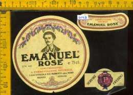 Etichetta Vino Liquore Rosè Emànuel Vinicola Pedrotti - Nomi TN - Etichette