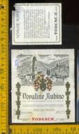 Etichetta Vino Liquore Novaline Rubino 1979 Cantine Todesca -Mattarello TN (difetto) - Etichette