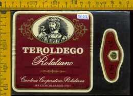 Etichetta Vino Liquore Teroldego 1980 Rotaliano - Mezzolombardo TN - Etichette