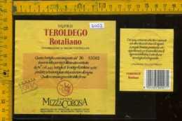 Etichetta Vino Liquore Teroldego 1986 Rotaliano - Mezzacorona TN - Etichette