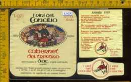 Etichetta Vino Liquore Cabernet Del Trentino 1979 V. Del Concilio - Volano TN - Etichette