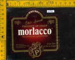 Etichetta Vino Liquore Morlacco 1981 Vallagarina-I Pedrotti - Nomi TN - Etichette