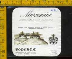 Etichetta Vino Liquore Marzemino Todesca - Volano TN - Etichette