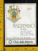 Etichetta Vino Liquore Marzemino Di Isera 1984 De Tarczal I. TN - Etichette