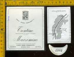 Etichetta Vino Liquore Marzemino 1984 Bossi Fedrigotti - Rovereto TN - Etichette