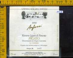 Etichetta Vino Liquore Pigato Anfossi 1990 - Bastia Di Albenga SV - Etichette