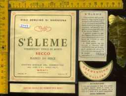 Etichetta Vino Liquore Vermentino Tipico Di Monti S'èleme - Monti SS - Etichette