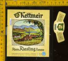 Etichetta Vino Liquore Rhein Riesling Renano 1969 - Caldaro BZ - Etichette