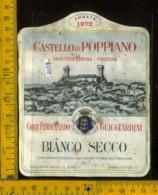 Etichetta Vino Liquore Bianco Secco 1972 F. Guicciardini - C. Di Poppiano FI - Etichette