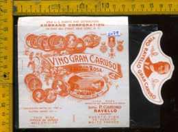 Etichetta Vino Liquore Gran Caruso Ravello Rosa - Salerno - Etichette