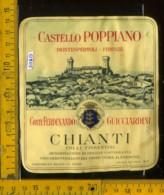 Etichetta Vino Liquore Chianti F. Guicciardini  - Castello Poppiano FI - Etichette