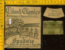 Etichetta Vino Liquore Chianti C. Podere Spadaio - S. Donato In Poggio FI - Etichette