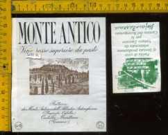 Etichetta Vino Liquore Rosso Superiore Monte Antico - Civitella Marittima GR - Etichette