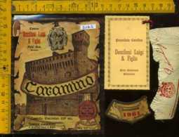 Etichetta Vino Liquore Caramino Cantine Dessilani L.  - Fara Novarese Piemonte - Etichette