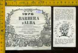 Etichetta Vino Liquore Barbera D' Alba 1986  Cant. Del Glicine - Neive CN - Etichette