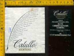 Etichetta Vino Liquore Catullo 1997 Bertani - Verona - Etichette