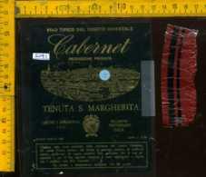 Etichetta Vino Liquore Cabernet 1971 Tenuta S. Margherita - Portogruaro VE - Etichette