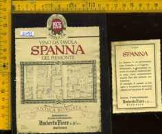 Etichetta Vino Liquore Spanna 1975 Umberto Fiore - Gattinara VC - Etichette