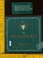 Etichetta Vino Liquore Picolit 1972 Cantoni - Ara Di Tricesimo UD - Etichette