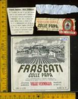 Etichetta Vino Liquore Frascati Colle Papa Valle Vermiglia - Frascati - Etichette