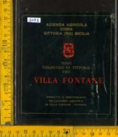 Etichetta Vino Liquore Cerasuolo Di Vittoria Cru - Coria Vittoria RG - Etichette
