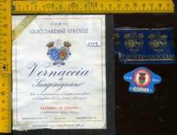 Etichetta Vino Liquore Vernaccia Di Sangimignano 1975 Fatt. Cusona SI (piccolo Difettto) - Etichette