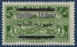 France Colonies Grand Liban N°98A**(Maury 2009) Erreur  De Surcharge Sur Timbre Syrien Signé - Great Lebanon (1924-1945)