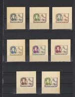 ++ 1956 Writers Pushkin 40 Kop Nominal In Different Colour Thick Paper Colour Proof - Essais & Réimpressions