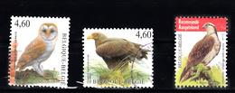 Belgie 2010 + 2009 + 2011 Mi Nr  4029 3917, 4137, Uil, Roofvogels 3x Gestempeld - Gebruikt