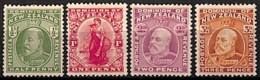 D - [829637]TB//*/Mh-c:56e-Nouvelle-Zélande 1909-10 - N° 135/38, Les 4 Premiers Timbres De La Série - 1907-1947 Dominion