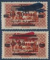 France Colonies Grand Liban PA N°38  B* & C** Double Surcharge Et Avion En Rouge RR - Great Lebanon (1924-1945)