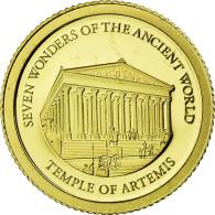Monnaie, Îles Salomon, Elizabeth II, Le Temple D'Artémis, 5 Dollars, 2011 - Salomonen