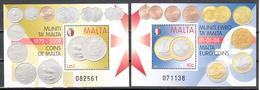 Malta 2007 / 2008 Mi Nr Blok 41 + 42, Munten, Coins, Postfris - Malta