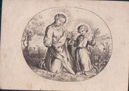 Holy Card Catharina Van Goethem 1835 E Vilain VIIII Basel ?? (7,5 X 10,5cm) Santini Image Pieuse Religieuse - Devotion Images