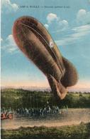 CAMP DE MAILLY-SAUCISSE QUITTANT LE SOL- VIAGGIATA 1923 - Dirigibili
