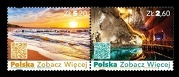 Poland 2018 Mih. 5000/01 Poland See More. Baltic Sea. Wieliczka Salt Mine MNH ** - Unused Stamps