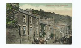 Postcard  Wales Llanhilleth Commercial Rd Unused Monmouthshire    T.ware Series - Monmouthshire