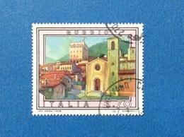 1978 ITALIA TURISTICA GUBBIO 70 FRANCOBOLLO USATO STAMP USED - 6. 1946-.. Repubblica