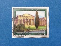 1978 TURISTICA PAESTUM 600 ITALIA FRANCOBOLLO USATO STAMP USED - 6. 1946-.. Repubblica