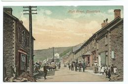 Postcard  Wales Llanhilleth High Street  Unused Monmouthshire   T.wares - Monmouthshire