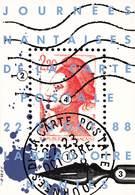 NANTES - JOURNEES NANTAISES DE LA CARTE POSTALE OCTOBRE 1988 - Bolsas Y Salón Para Coleccionistas