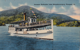 Newport Vermont U.S.A. - Steamer Anthemis - Lake Memphremagog - Boat - Written 1974 - 2 Scans - United States