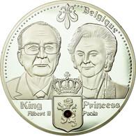 Belgique, Médaille, Les Dynasties Royales, Albert II Et Paola, FDC, Cuivre - Belgique