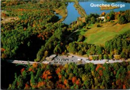 Vermont Aerial View U S Route 4 Crossing The Quechee Gorge - United States